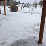 snow in Silverthorne colorado on 2/24/17