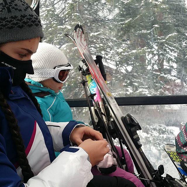 Riding up the Breckenridge Gondola. April is a great time to ski. #aprilskiing #Silverthorne #SkiSilverthorne #Breckenridge