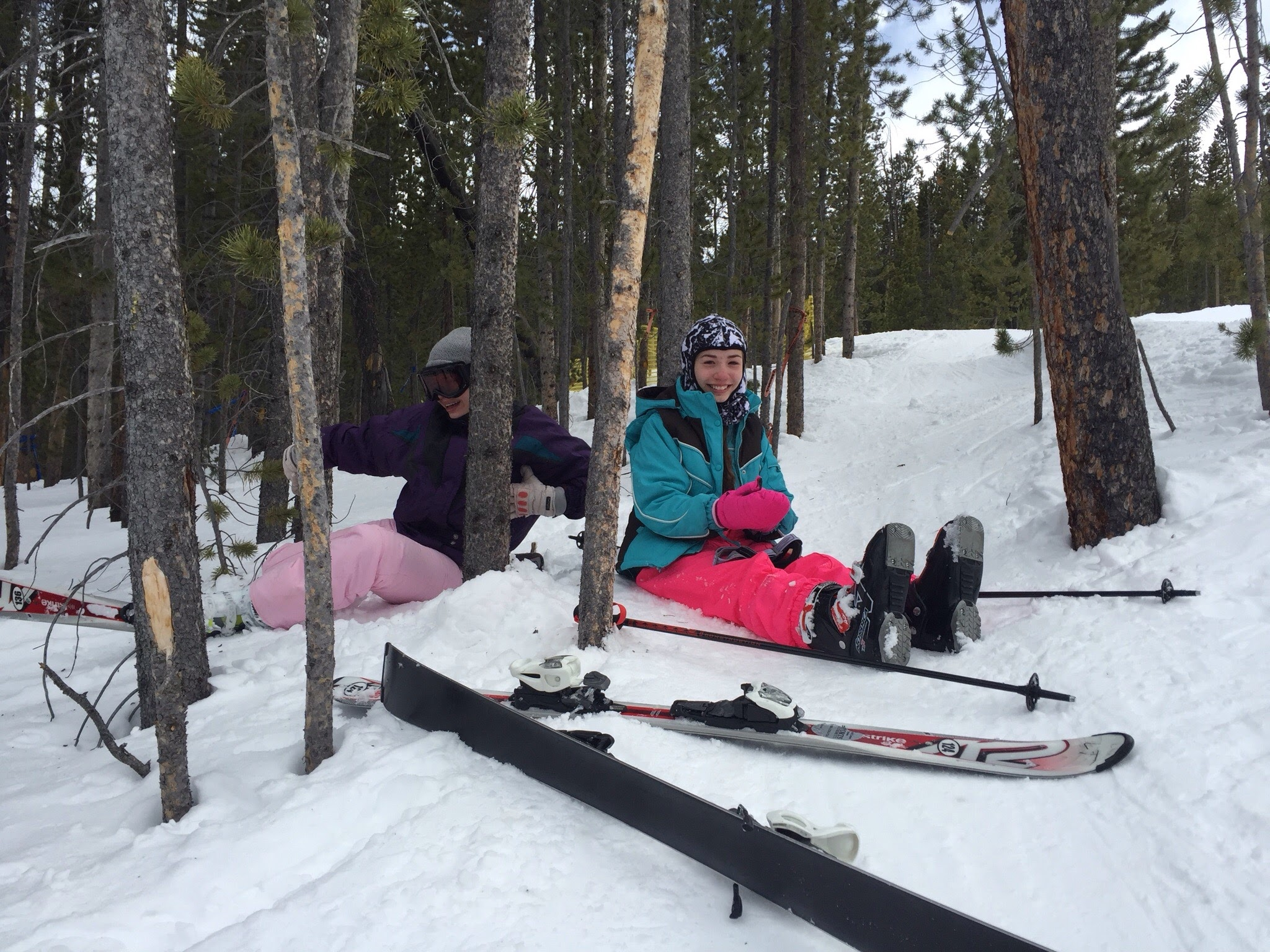 Snow Skiing in April in Colorado