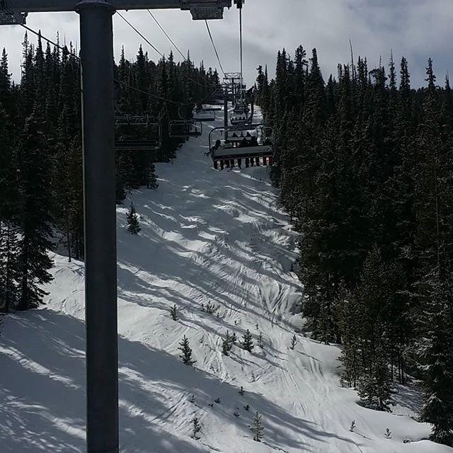 This is the new Montezuma chair lift at Keystone Ski Resort  #keystone #skisilverthorne