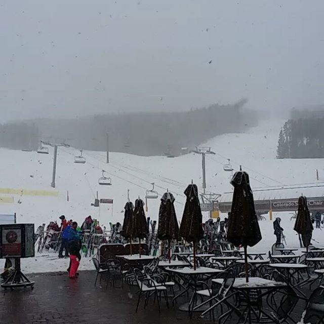 It come a whiteout at Breckenridge today!  #breckenridge #keystone #silverthorne #skisilverthorne