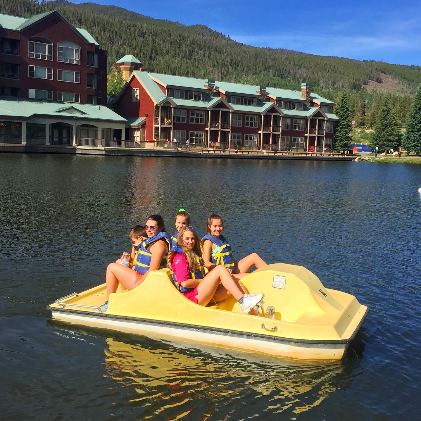 Paddle boats at Keystone Colorado are so much fun. The whole family had a blast! #paddleboats #keystonecolorado #familyfun