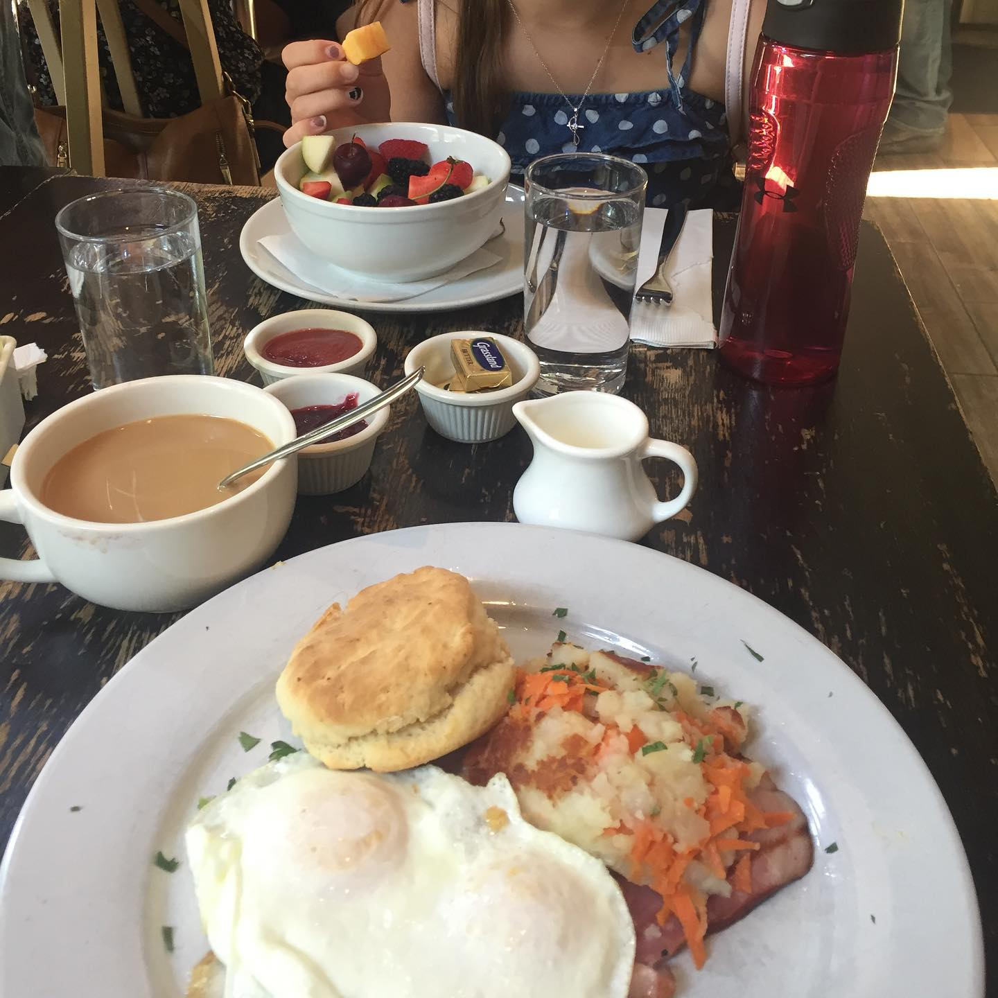 Say good morning with a nice hearty eggs breakfast to start your day off right. #relax #breakfast #eggs #coffee #vacationinstyle
