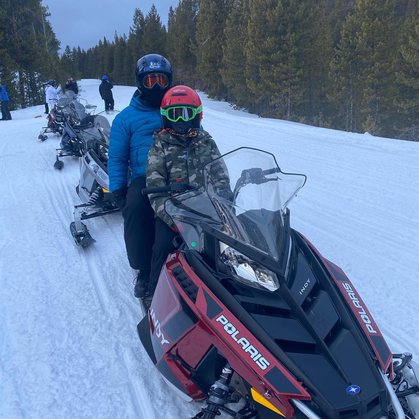 Going on a snowmobile ride today!! Oh what fun it is- over the hills we go - laughing all the way !! #snowmobilerides #winterfun #snowmobilingincolorado #snowmobilefun