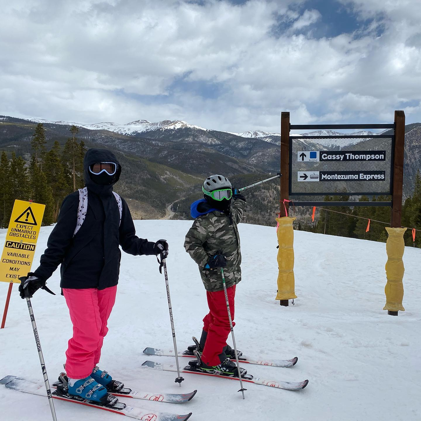 We found a slope with our last name! We attempted to go down it but found out it was full of moguls!! We took our skis off and walked back uphill to go down a better route- what memories we had this ski season 2021! #familyfun #familyskitrip #gassythompson #keystone #keystoneresort