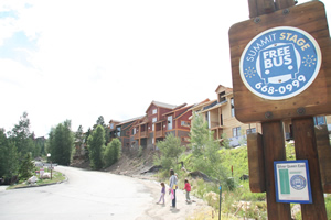 Bus stop the Silverthorne Vacation Rental