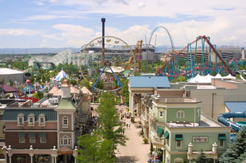 Elitch Gardens Aerial View - Denver CO