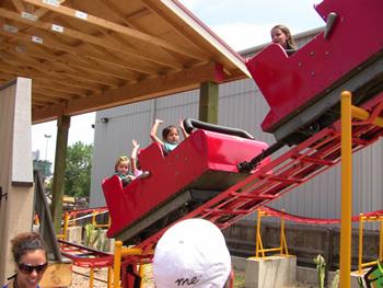 Roller Coaster at Startoon Studios - Elitch Gardens