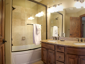 There are four full sized bathrooms in this Silverthorne townhome
