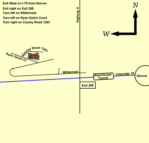 Map to Silverthorne Lodge