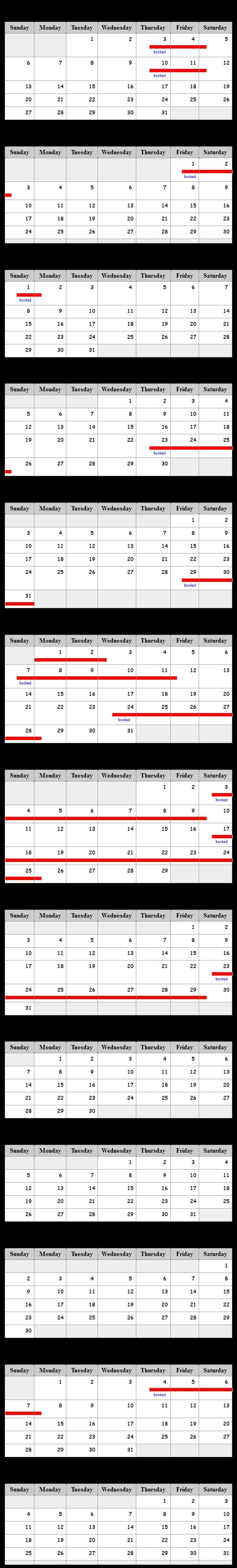 Ski Silverthorne Lodge 30A Availability Calendar